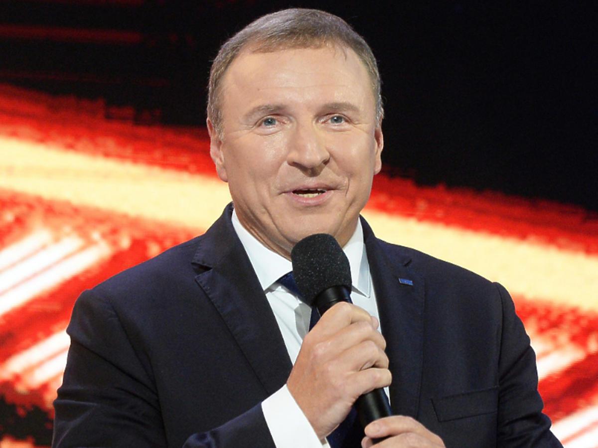 Jacek Kurski podczas prezentacji jesiennej ramówki TVP