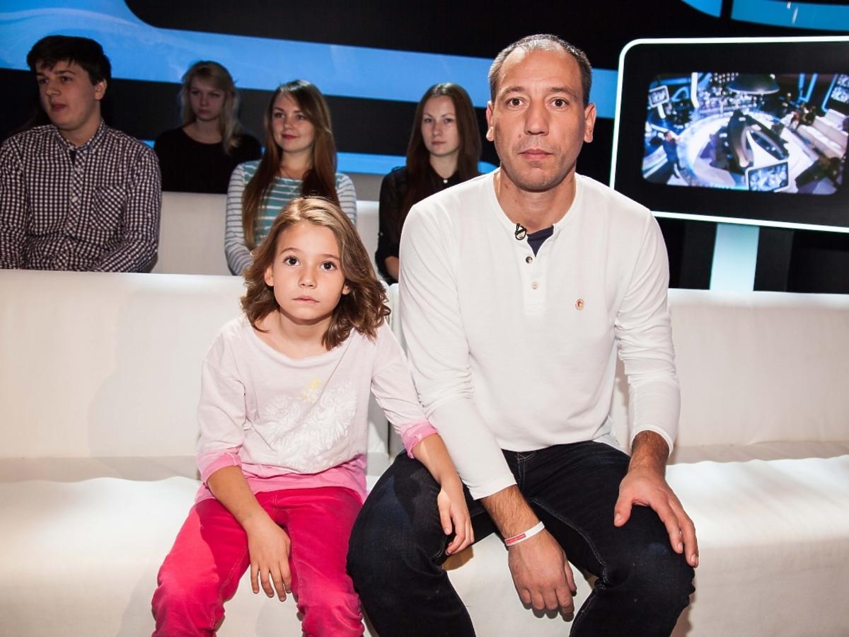 Jacek Olszewski z córką Lilianą w programie Świat się kręci