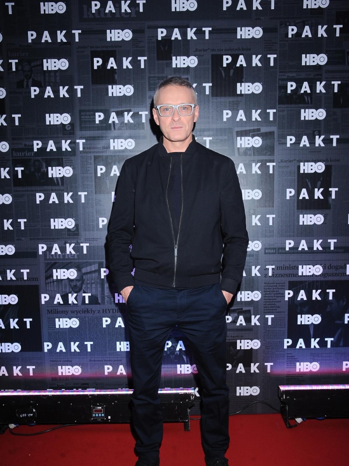 Jacek Poniedziałek na konferencji prasowej serialu