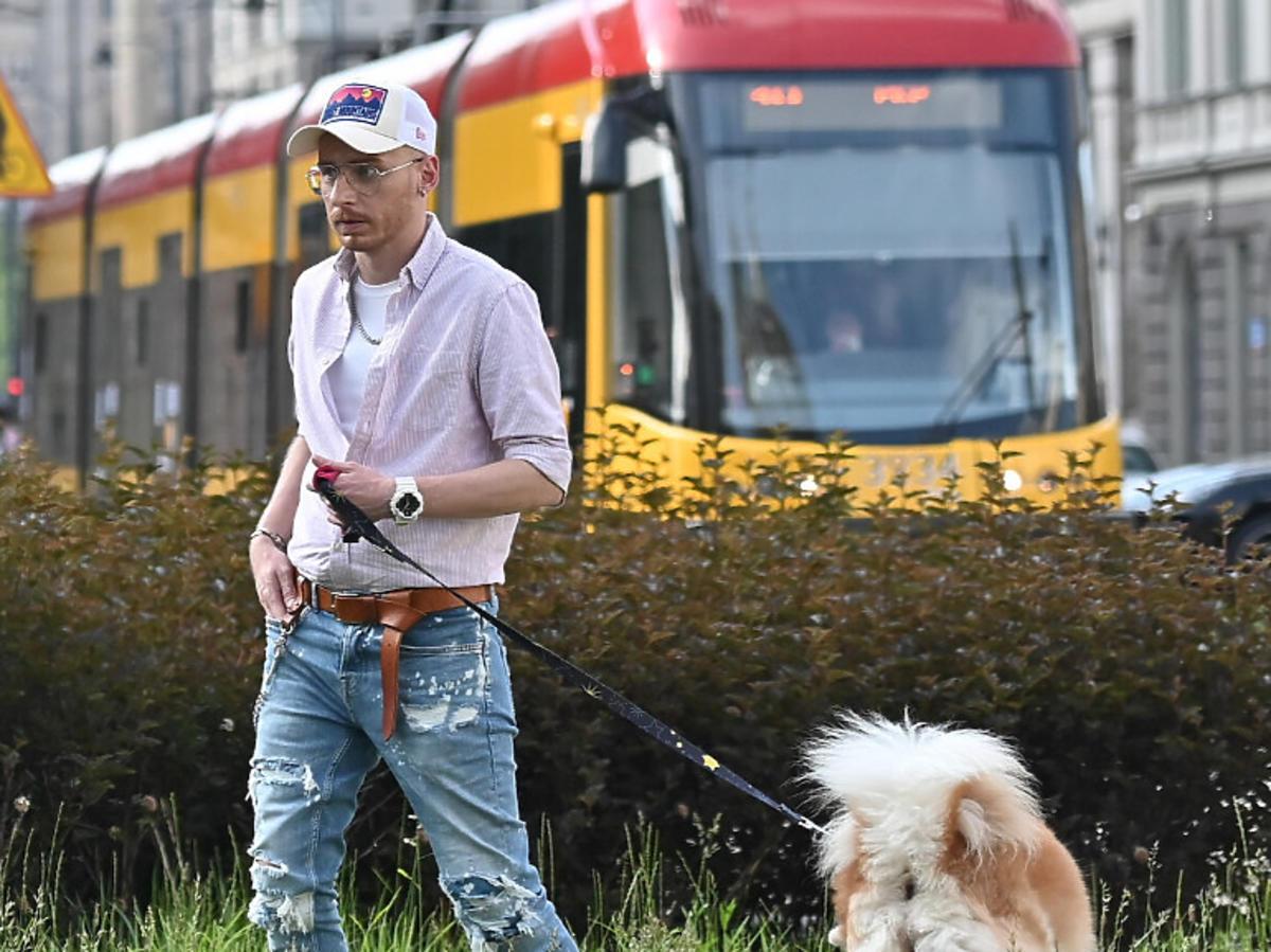 Jacek Szawioła z psem