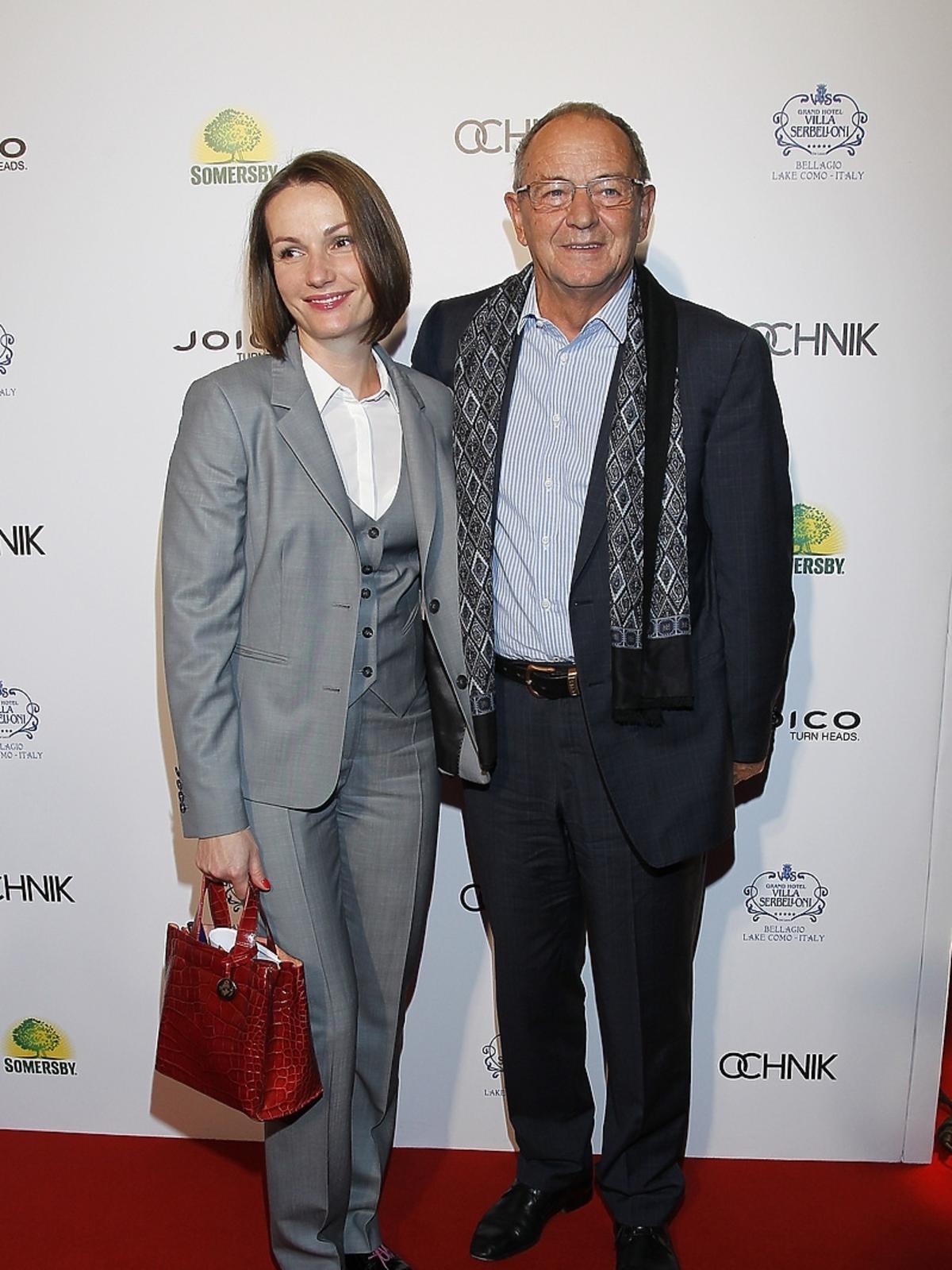 Jagna Marczułajtis-Walczak i Jerzy Fedorowicz na premierze filmu Obywatel
