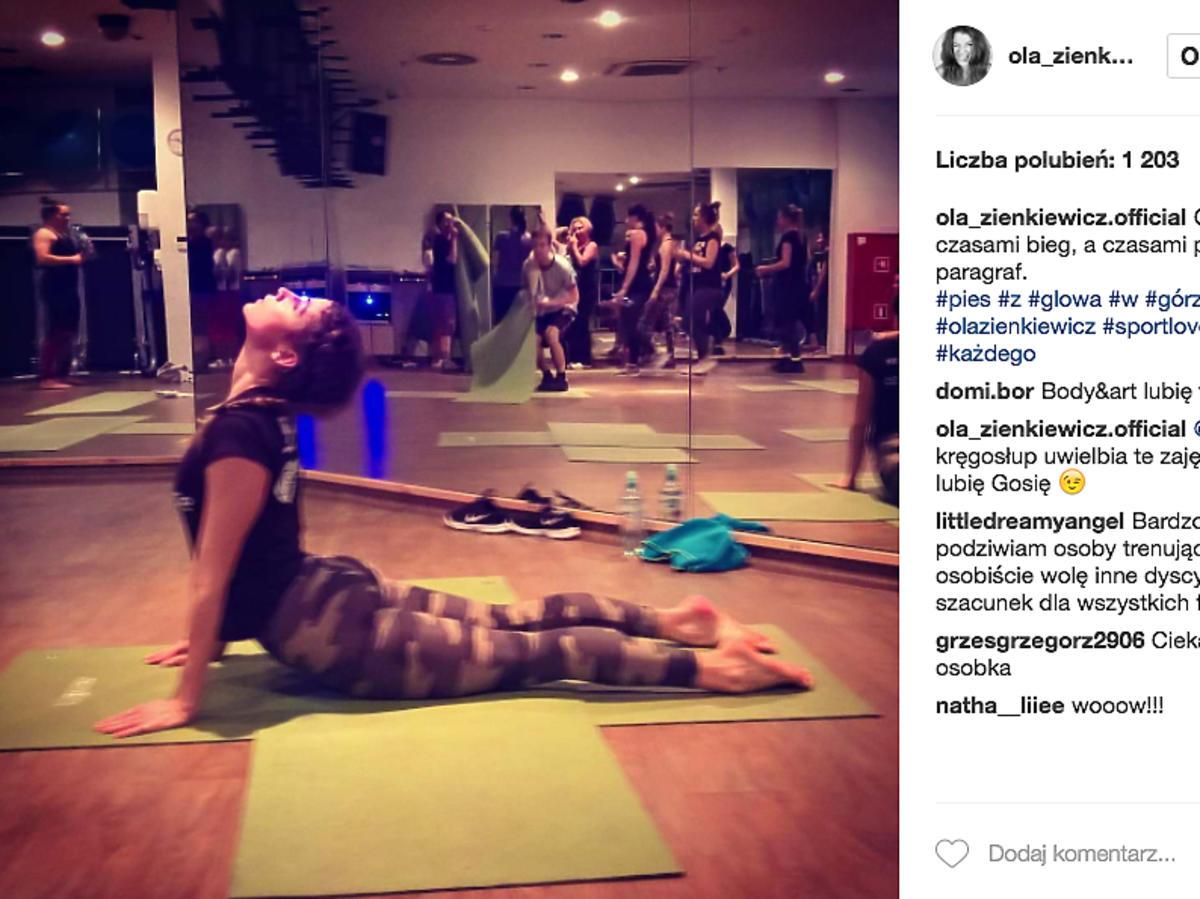 Jak ćwiczy Aleksandra Zienkiewicz?