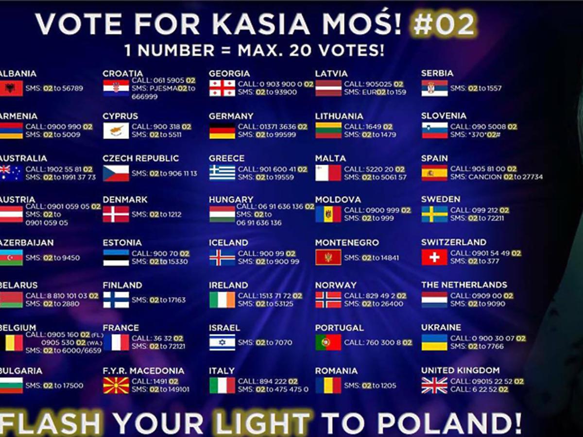 Jak głosować na Kasię Moś w finale?