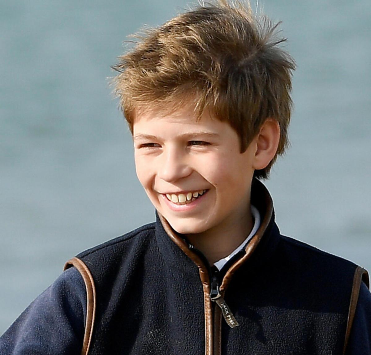 Jakub, 13-letninajmłodszy wnuk królowej i księcia Filipa