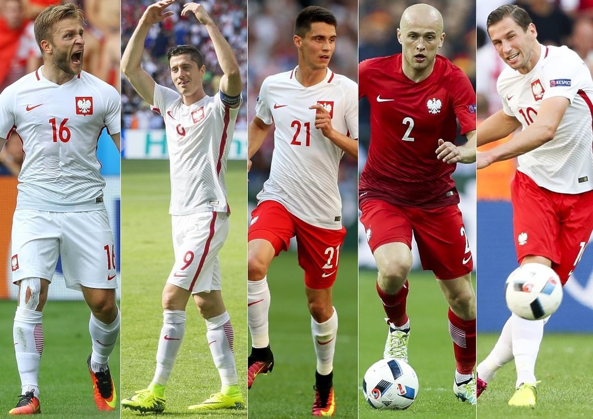 Jakub Błaszczykowski, Robert Lewandowski, Bartosz Kapustka, Michał Pazdan, Grzegorz Krychowiak