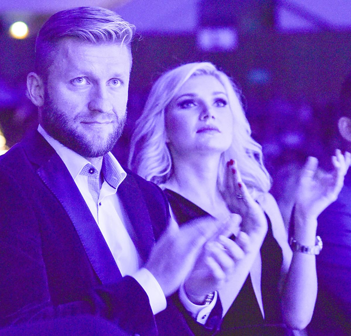 Jakub Błaszczykowski z żoną Agatą
