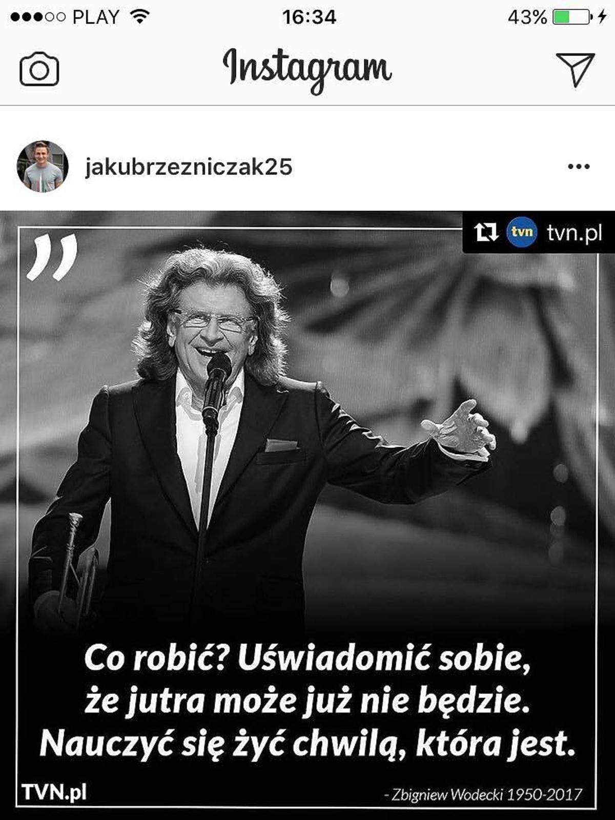 Jakub Rzeźniczak żegna Zbigniewa Wodeckiego