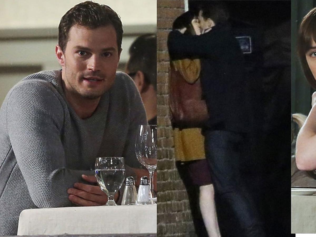 Jamie Dornan, Dakota Johnson całują się na planie filmu Ciemniejsza strona Greya