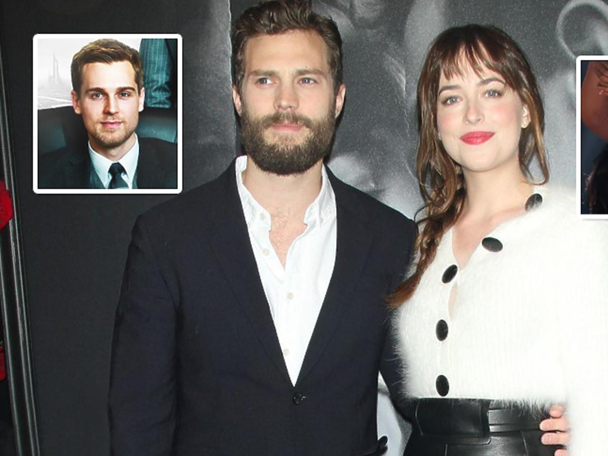 Jamie Dornan i Dakota Johnson na premierze 50 twarzy Greya