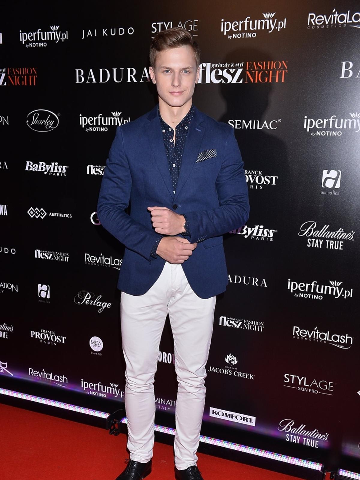 Jan Dratwicki na Flesz Fashion Night 2017