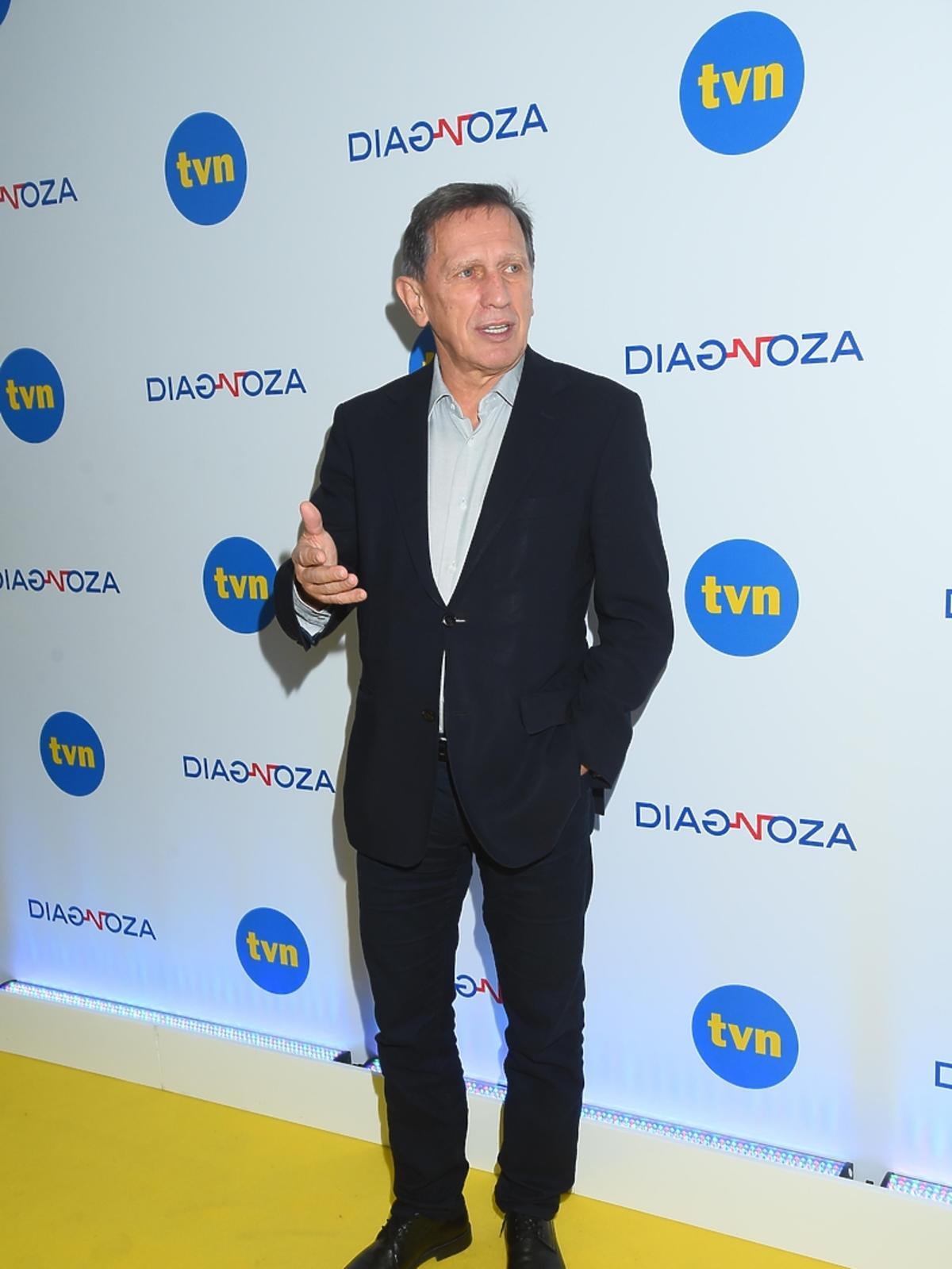 Jan Englert na konferencji prasowej serialu
