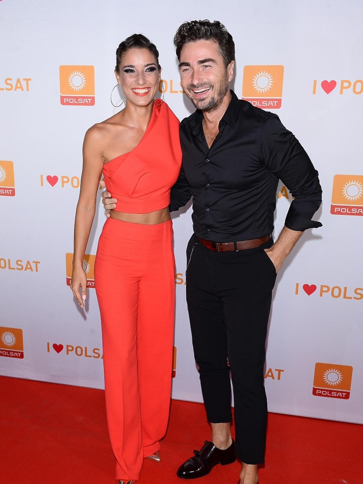 Jan Kliment z żoną na ramówce Polsatu