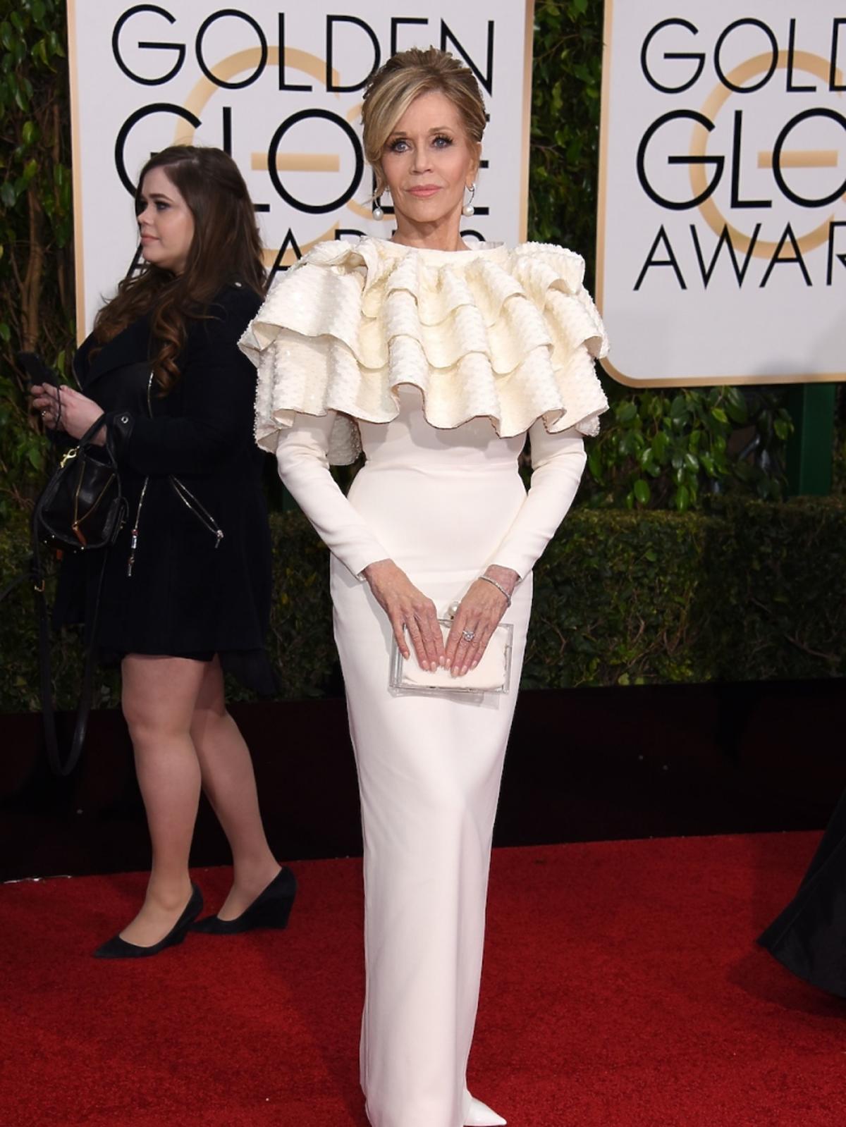 Jane Fonda na rozdaniu Złotych Globów 2016