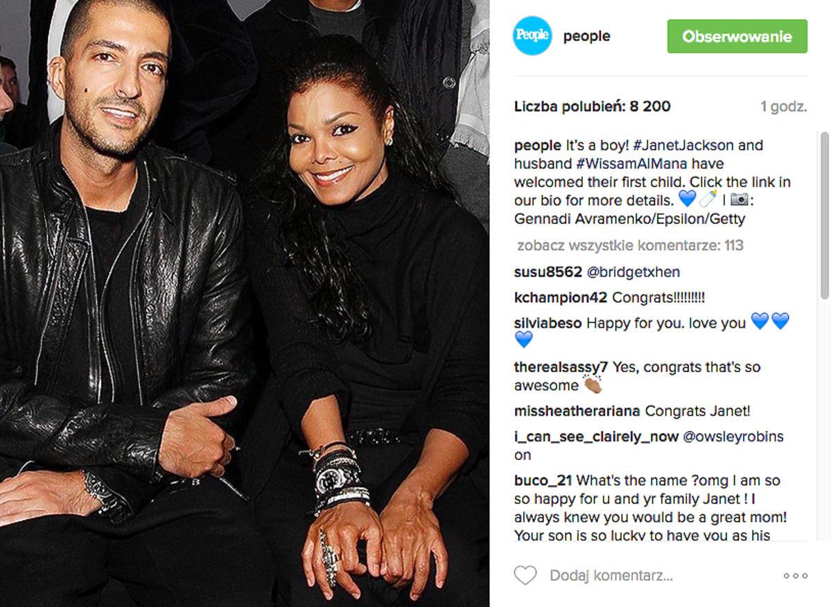 Janet Jackson z mężem zostali rodzicami