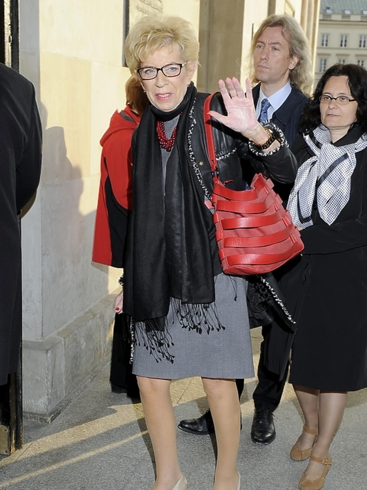 Janina Paradowska na premierze opery