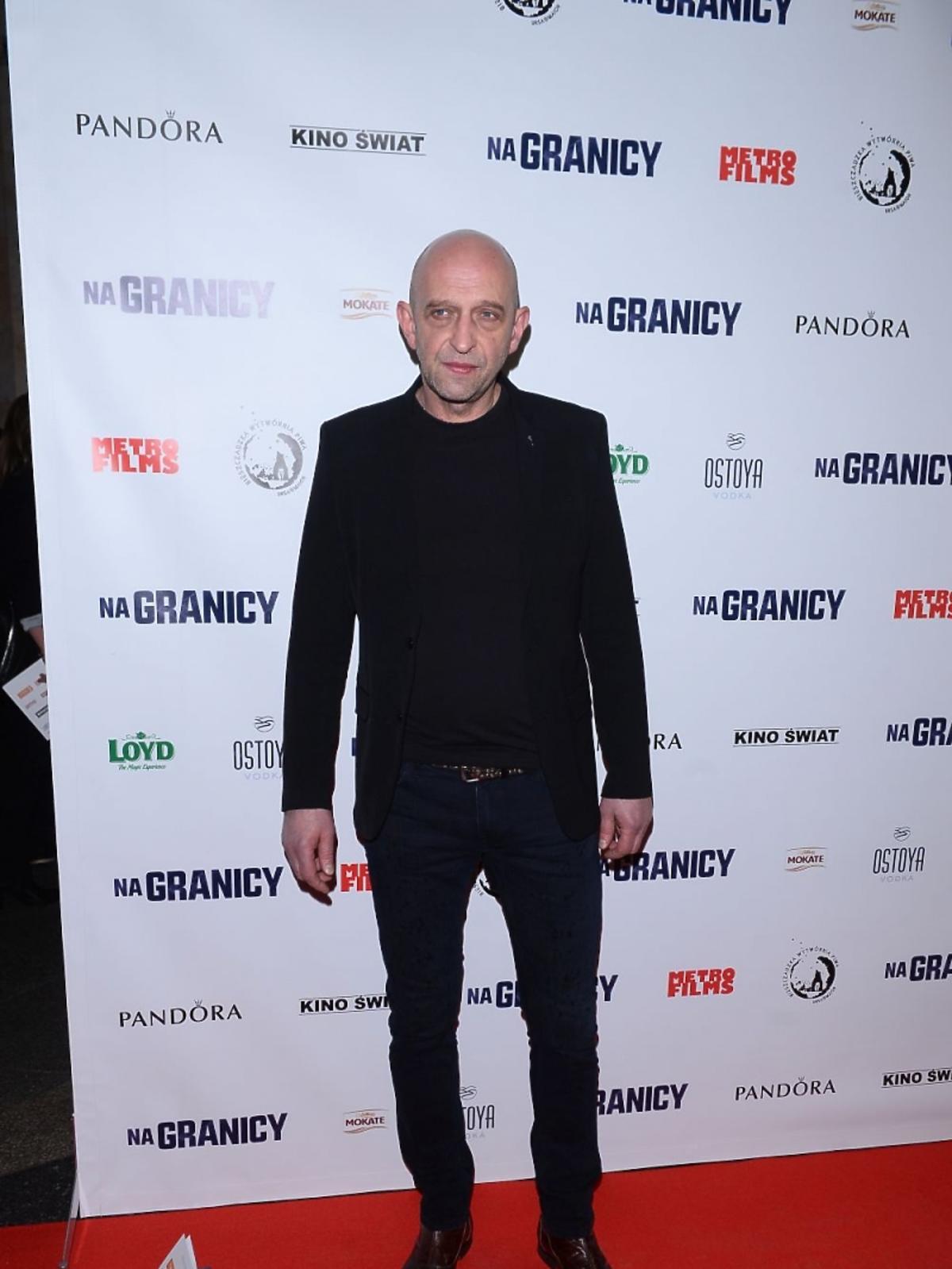 Janusz Chabior na premierze filmu
