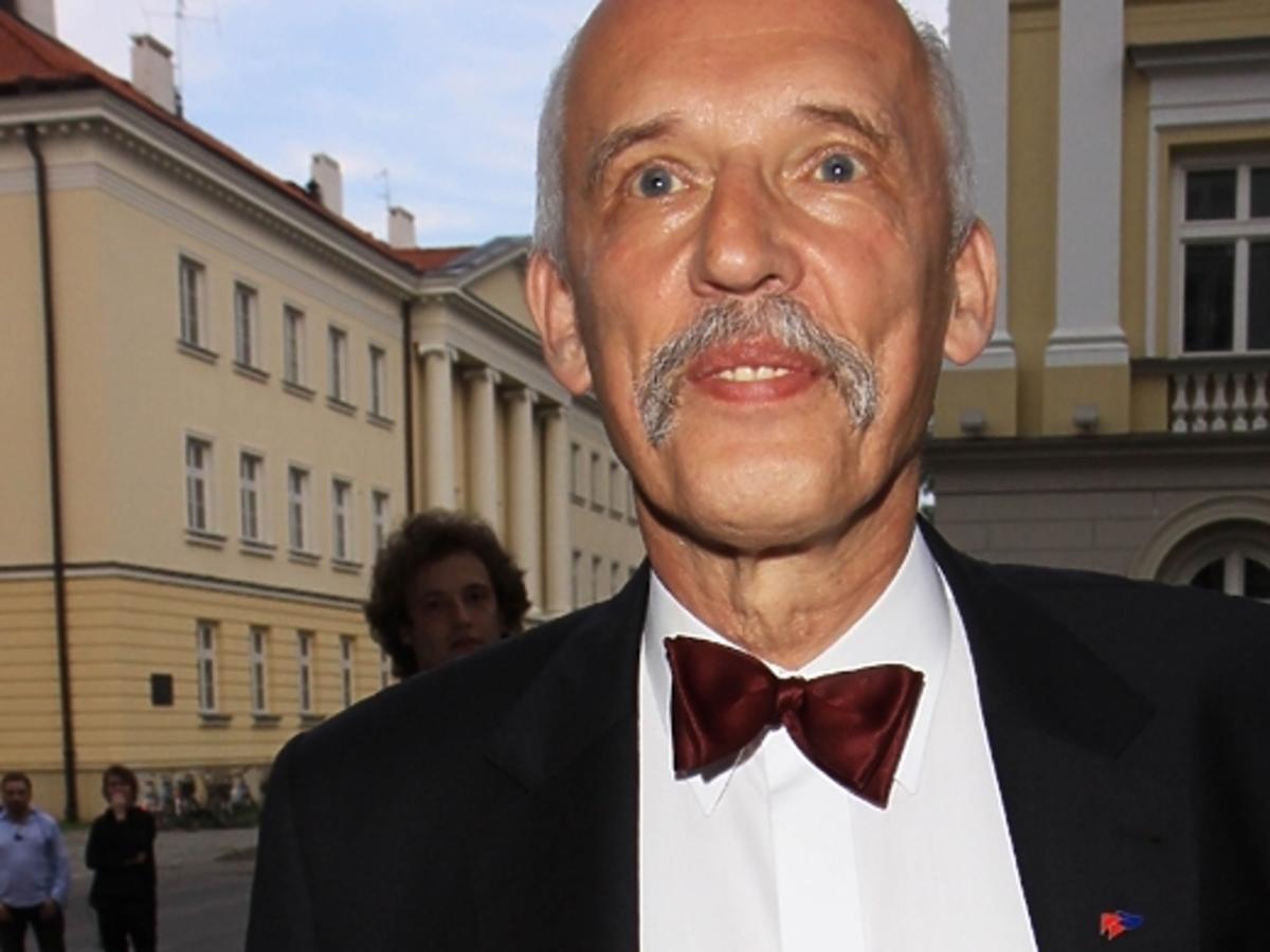 Janusz Korwin Mikke uderzył w twarz Michała Boniego