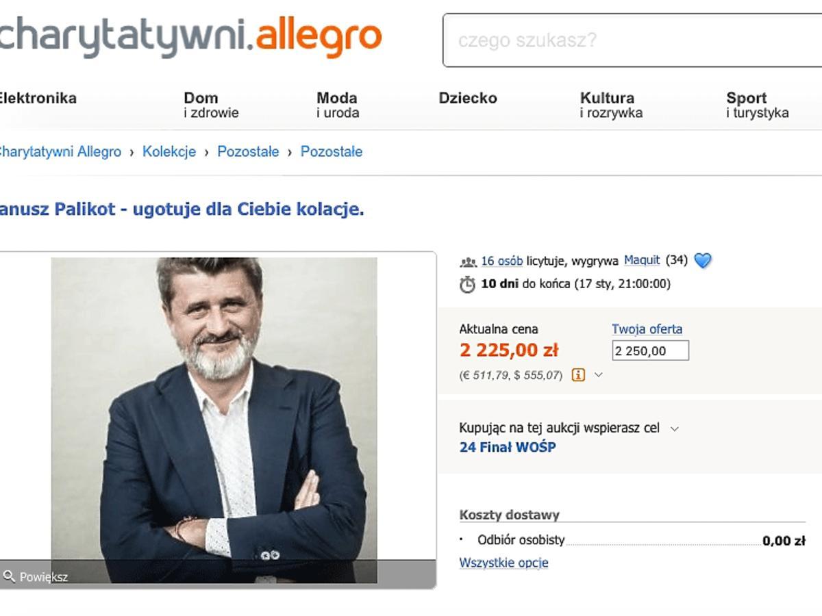 Janusz Palikot wspiera WOŚP na Allegro