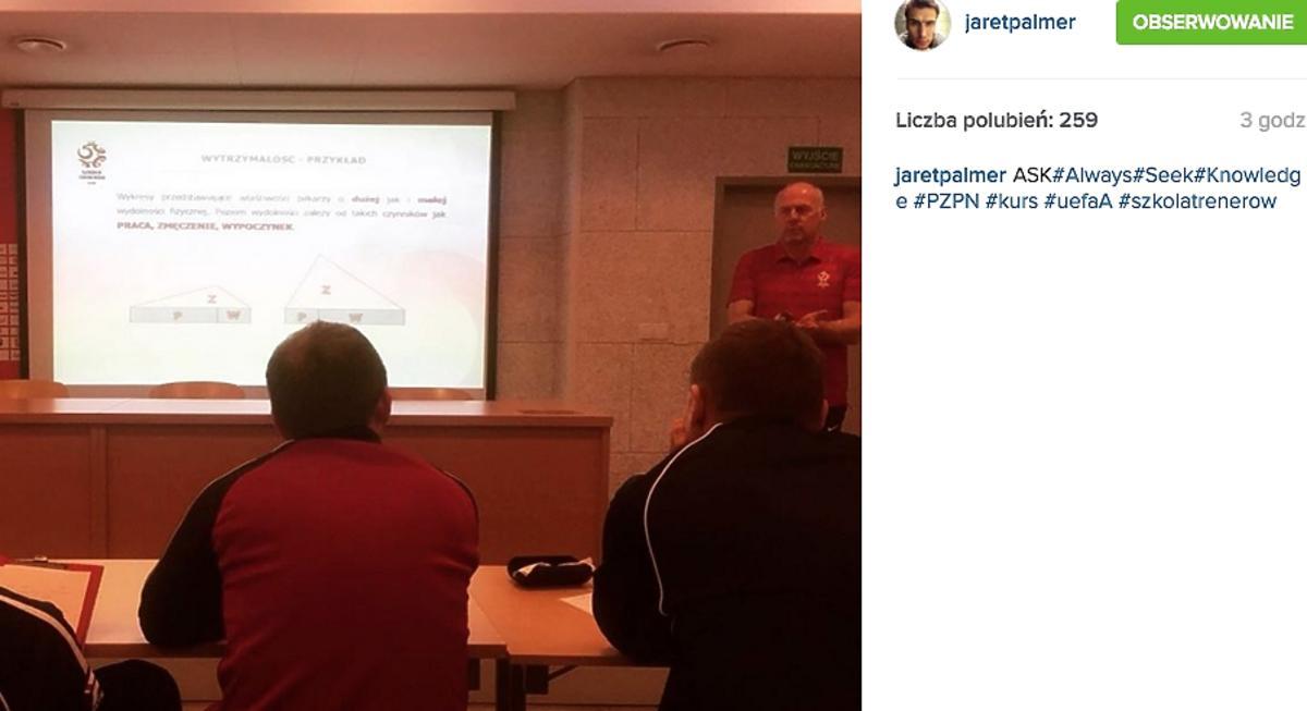 Jarosław Bieniuk na szkoleniu piłkarskim