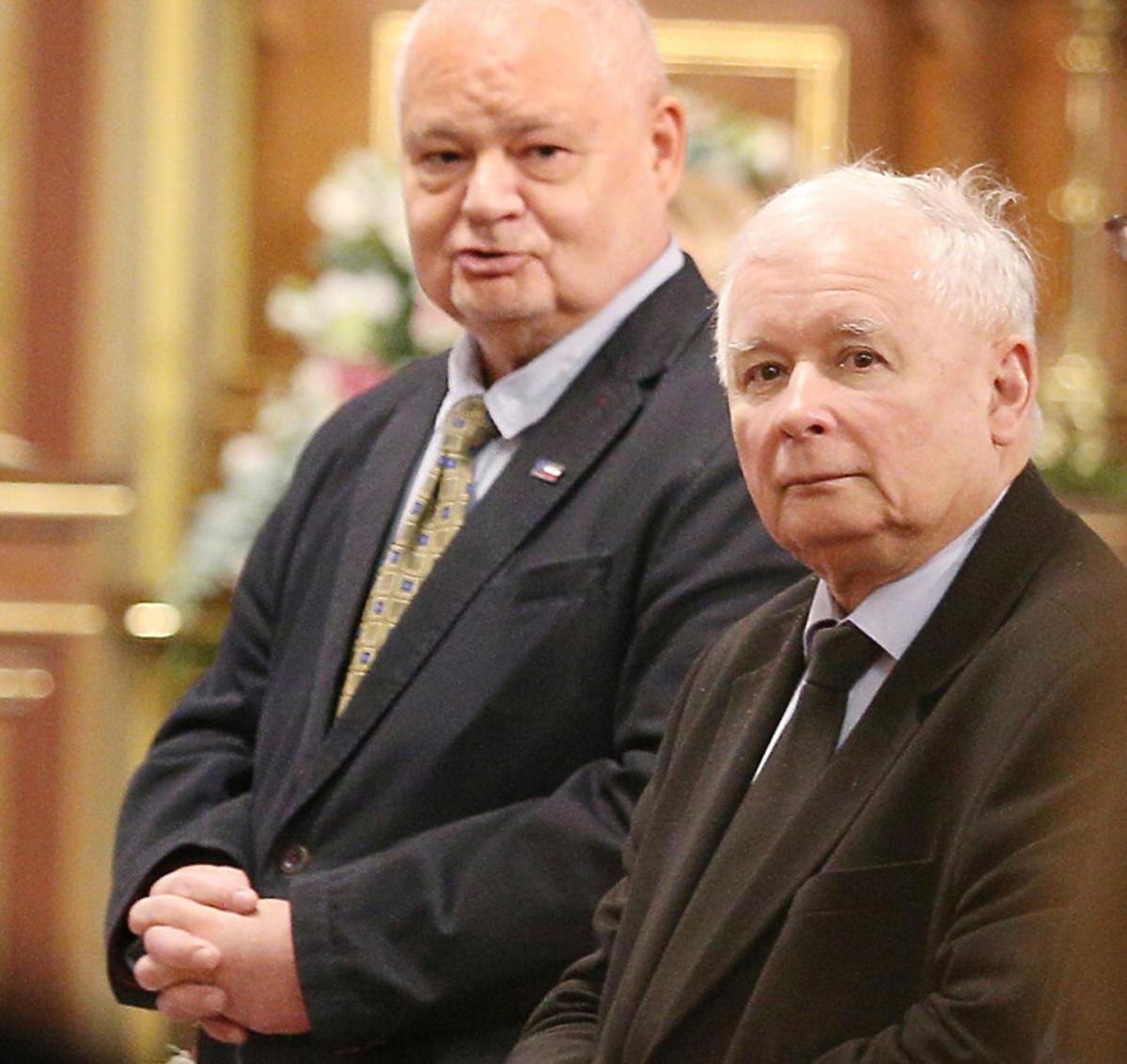 Jarosław Kaczyński i Adam Glapiński na ślubie Jacka Kurskiego