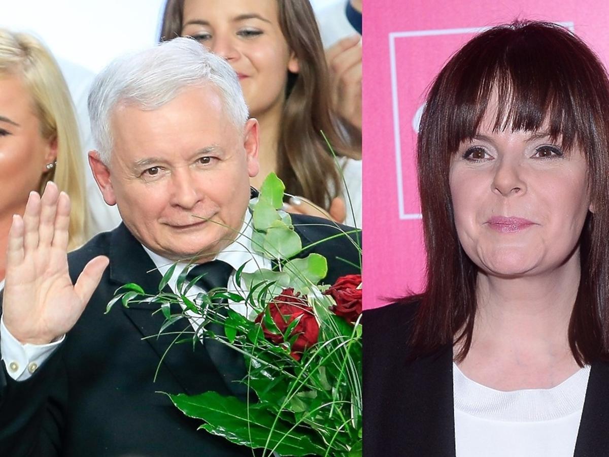 Jarosław Kaczyński i Karolina Korwin Piotrowska