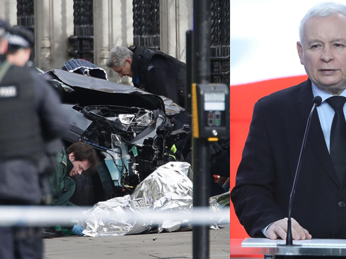 Jarosław Kaczyński w Londynie w czasie zamachu