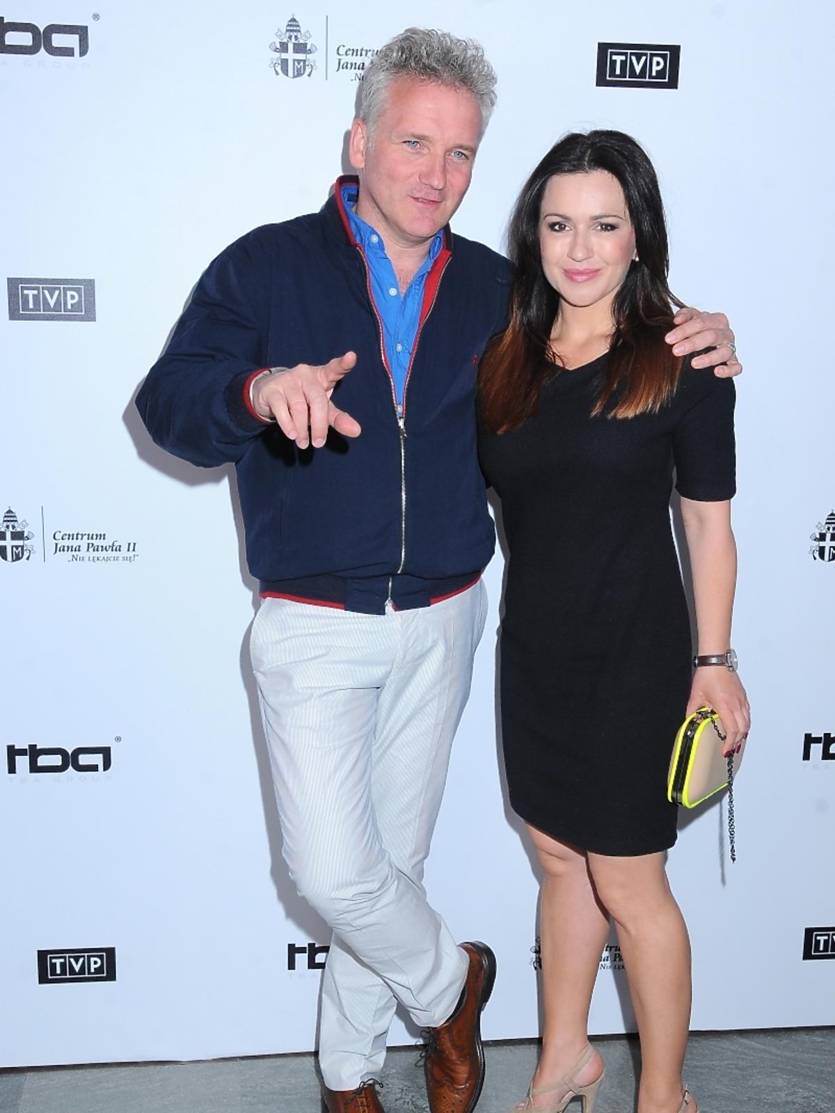 Jarosław Kret i Beata Tadla na premierze filmu Apartament