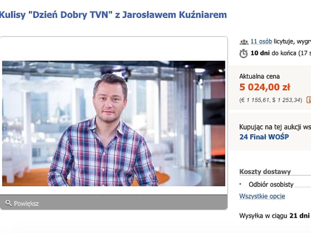 Jarosław Kuźniar na Allegro wspiera WOŚP