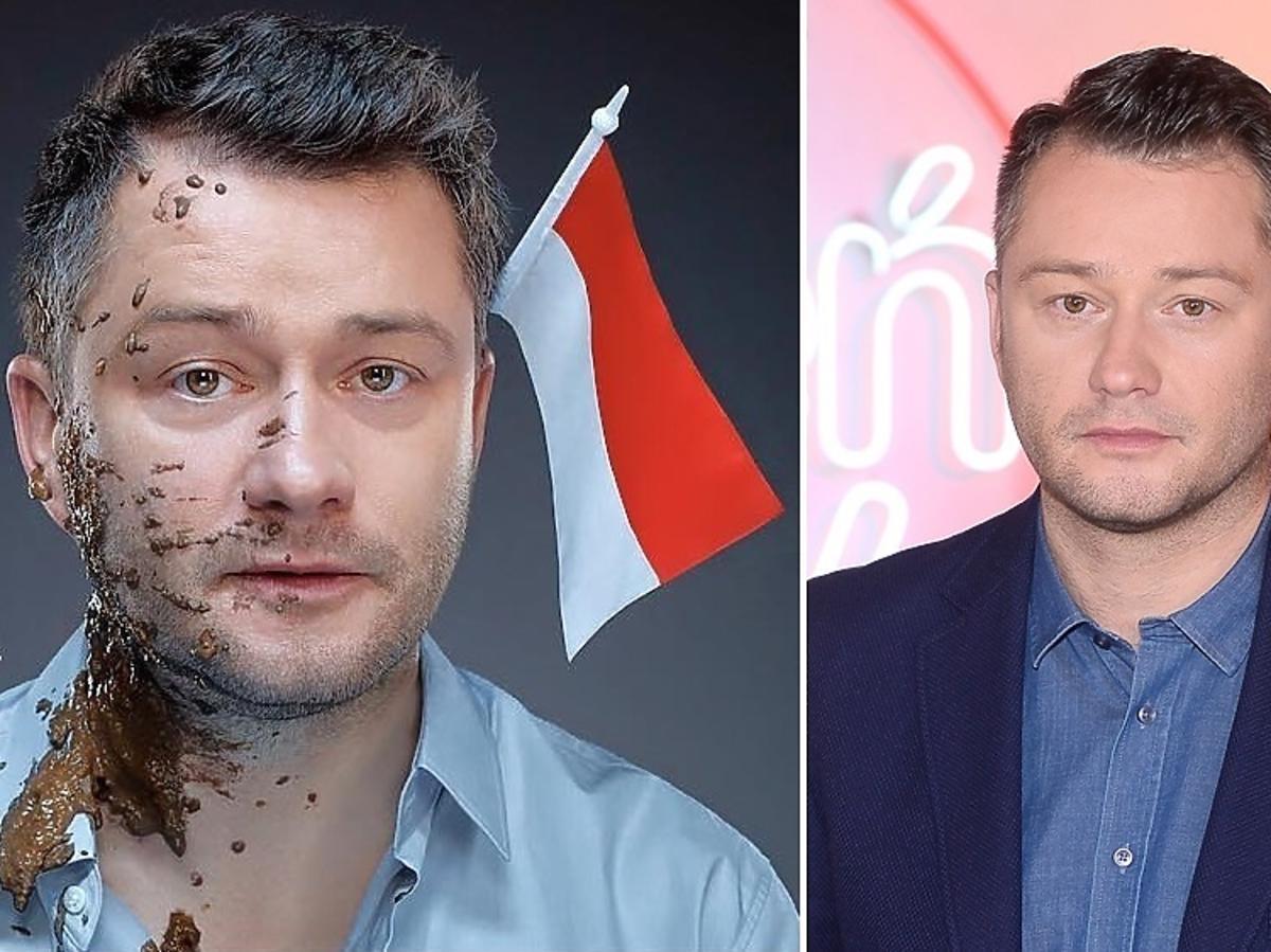 Jarosław Kuźniar obrzucony gnojem