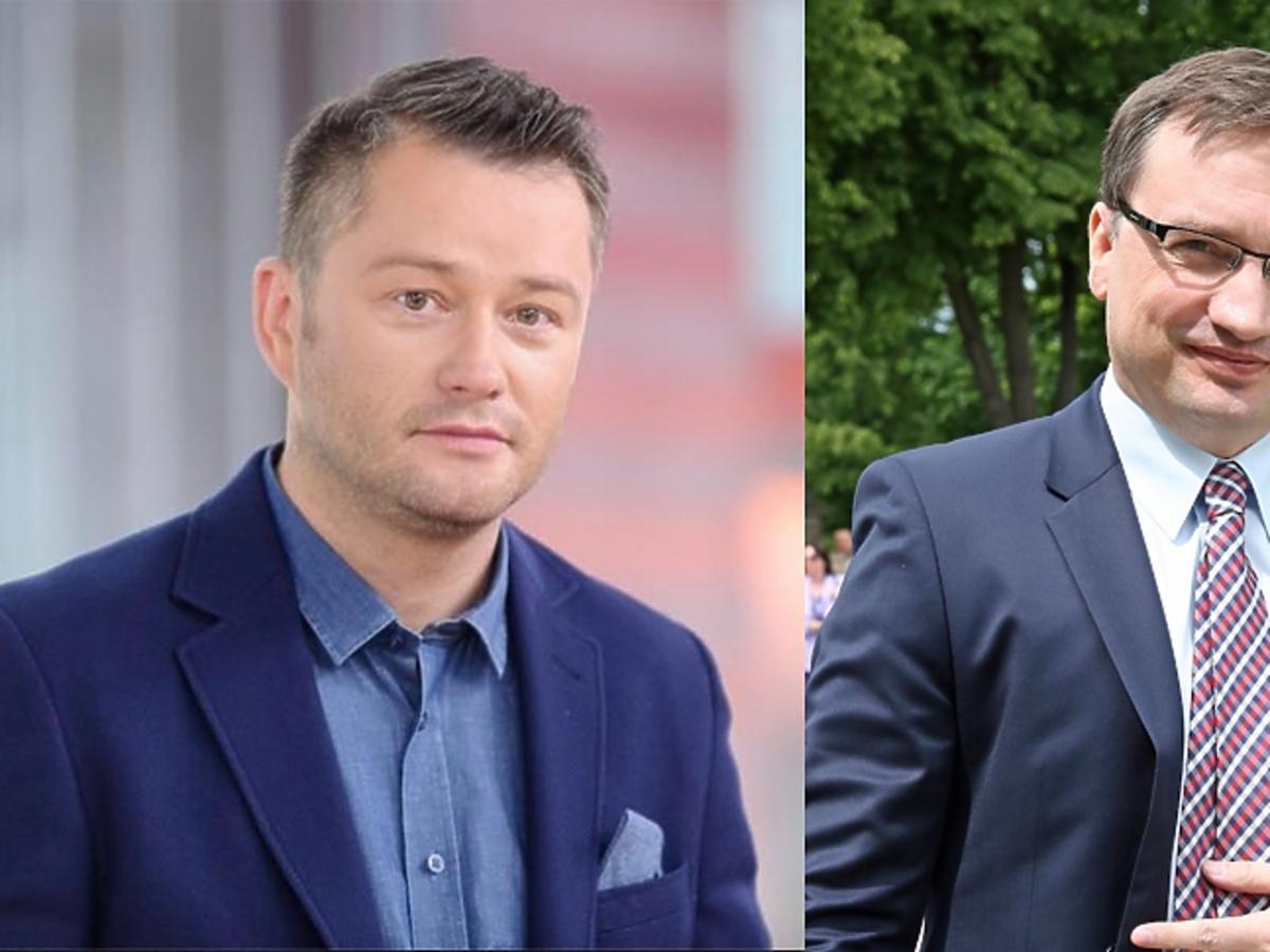 Jarosław Kuźniar w niebieskiej marynarce, Zbigniew Ziobro w szarej marynarce