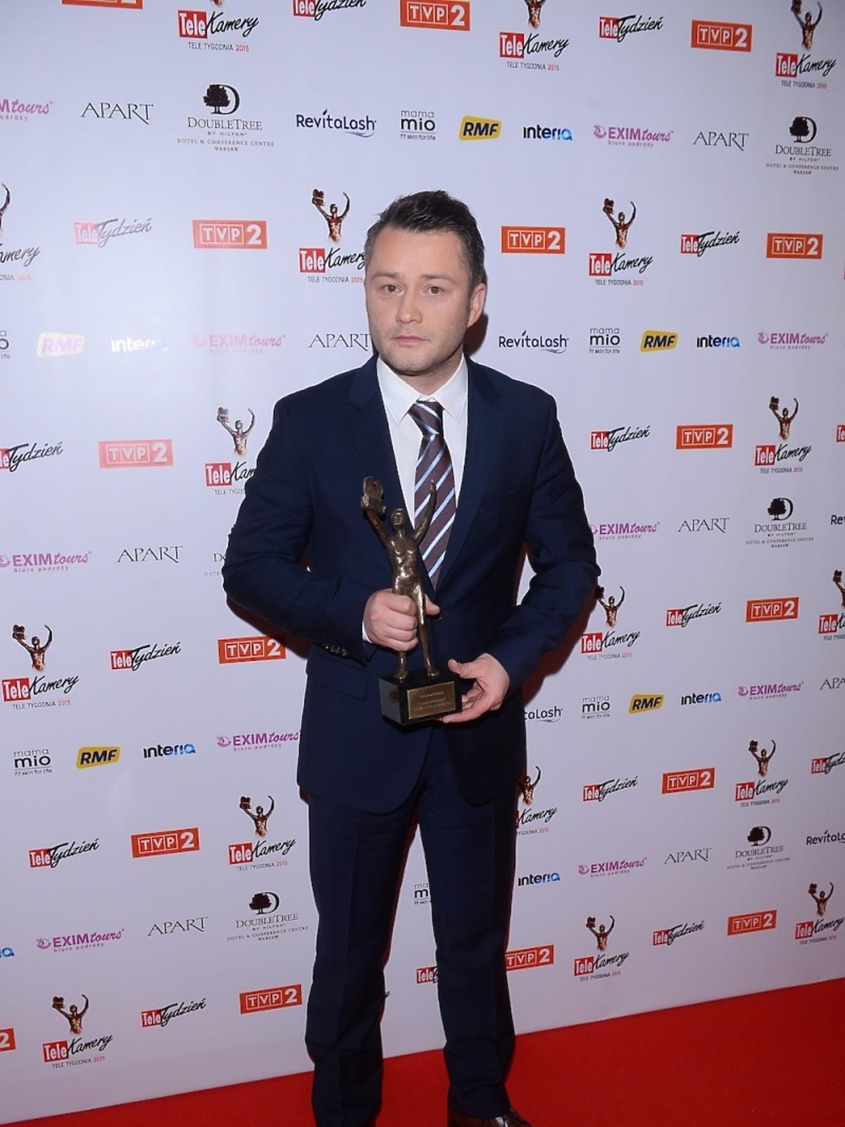 Jarosław Kuźniar z nagrodą TeleKamery 2015