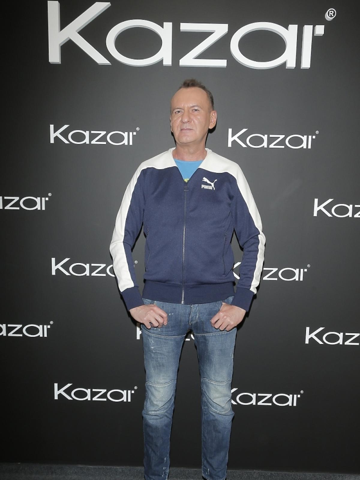 Jarosław Szado na prezentacji butów Kazar