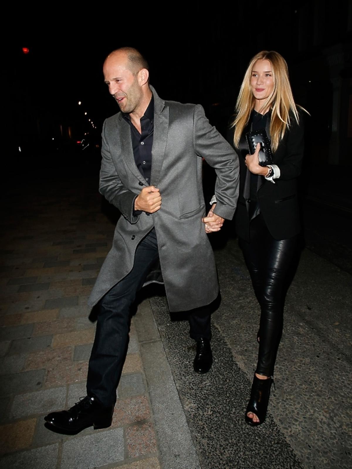 Jason Statham i Rosie Huntington-Whitley w Londynie