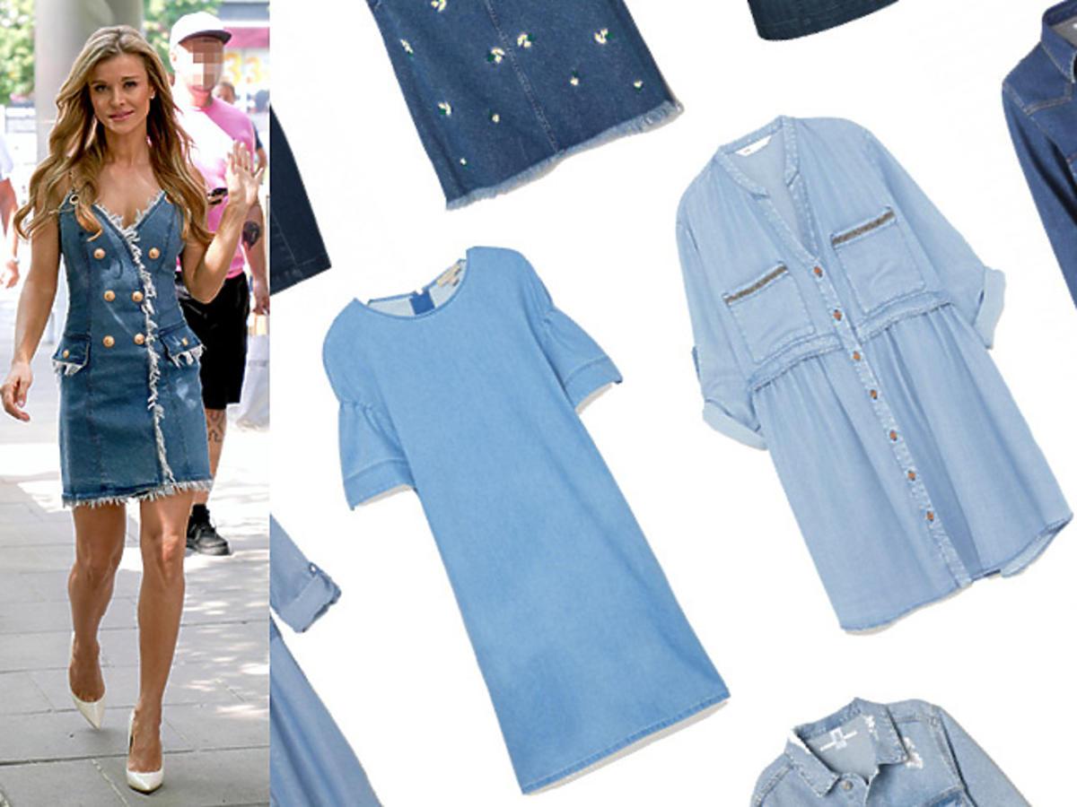 Jeansowe sukienki w stylu Joanny Krupy