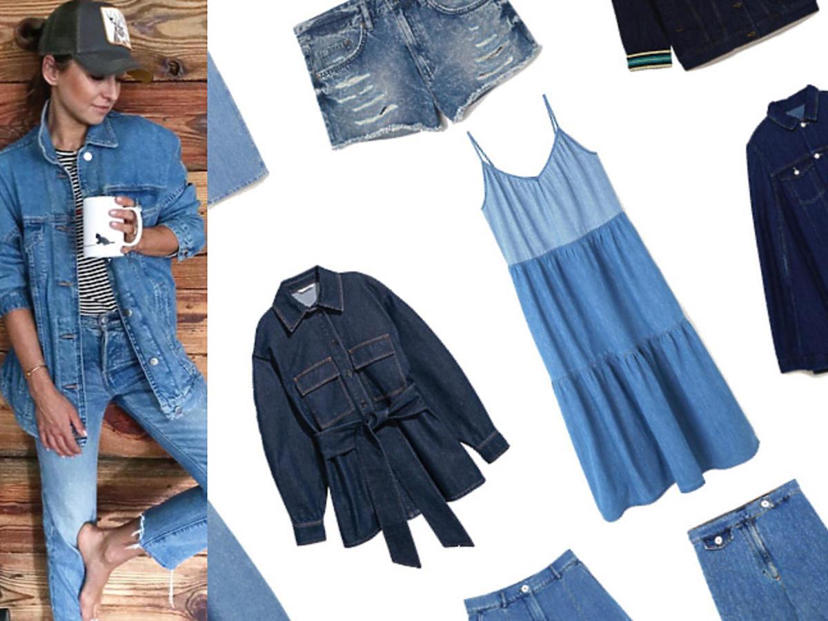 Jeansowe ubrania w stylu Anny Lewandowskiej z letnich wyprzedaży