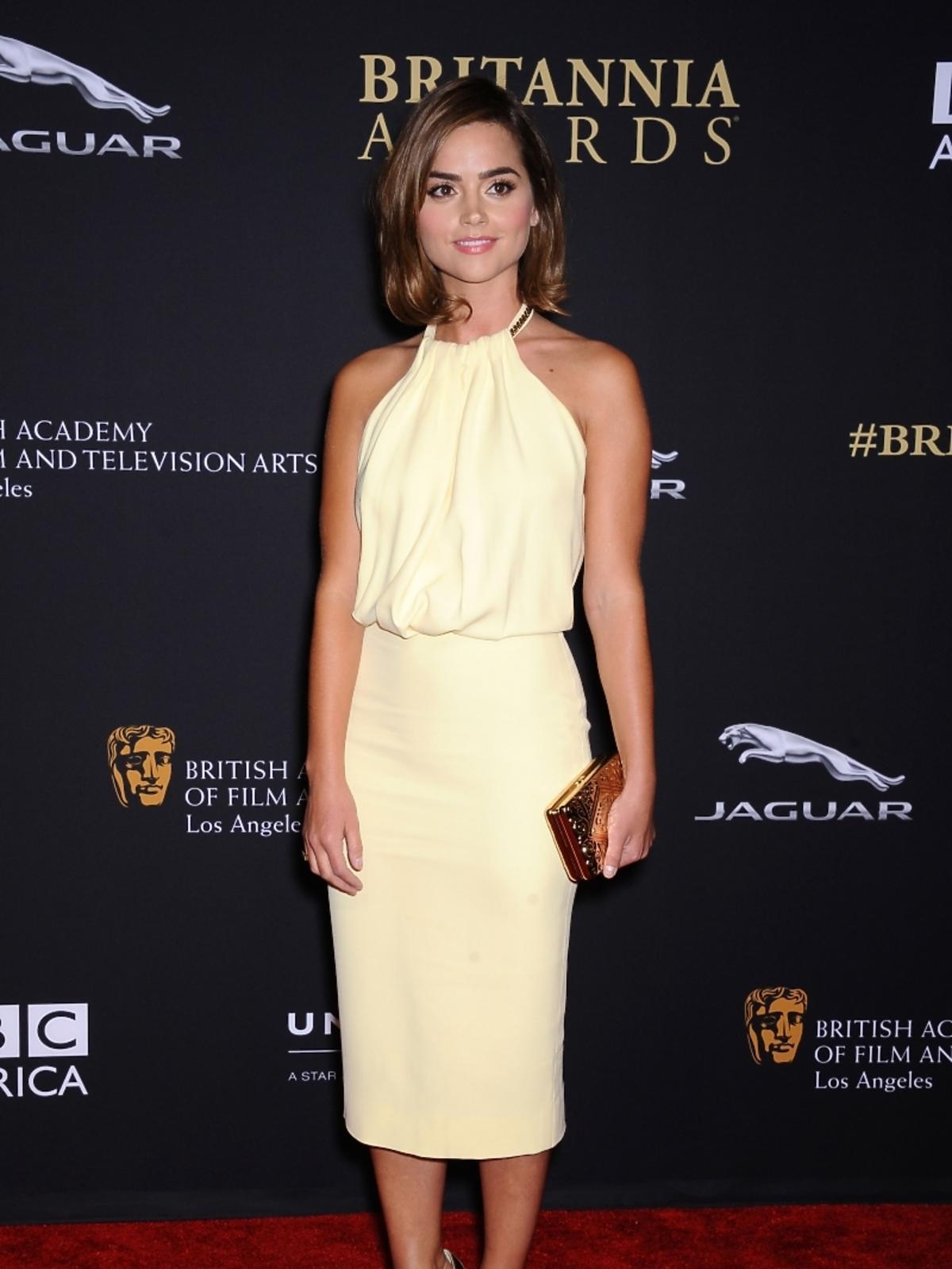 Jenna Coleman na rozdaniu nagród BAFTA 2014