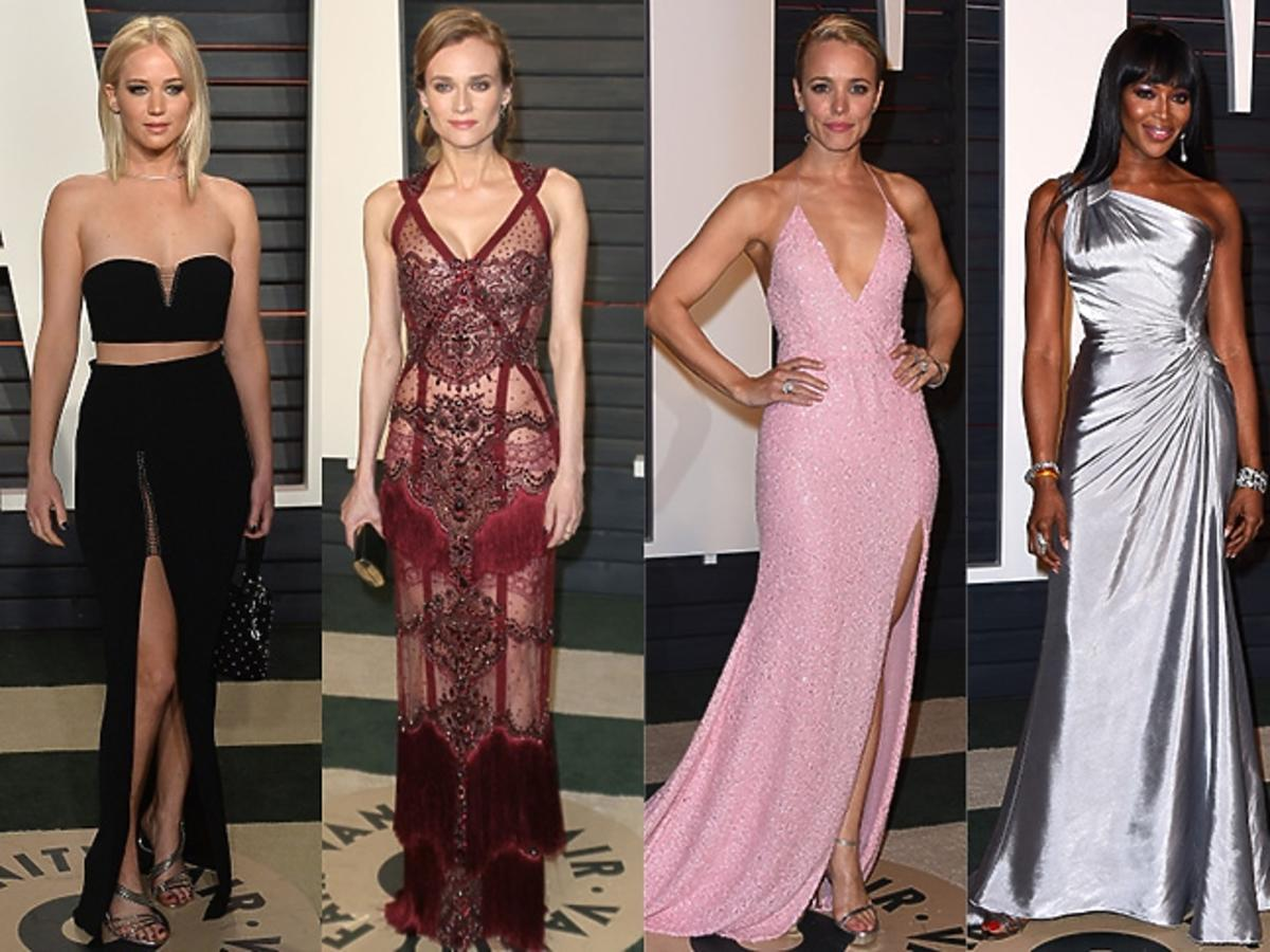 Jennifer Lawrence, Diane Kruger, Rachel McAdams, Naomi Campbell, Taylor Swift na imprezie Vanity Fair Oscar party 2016
