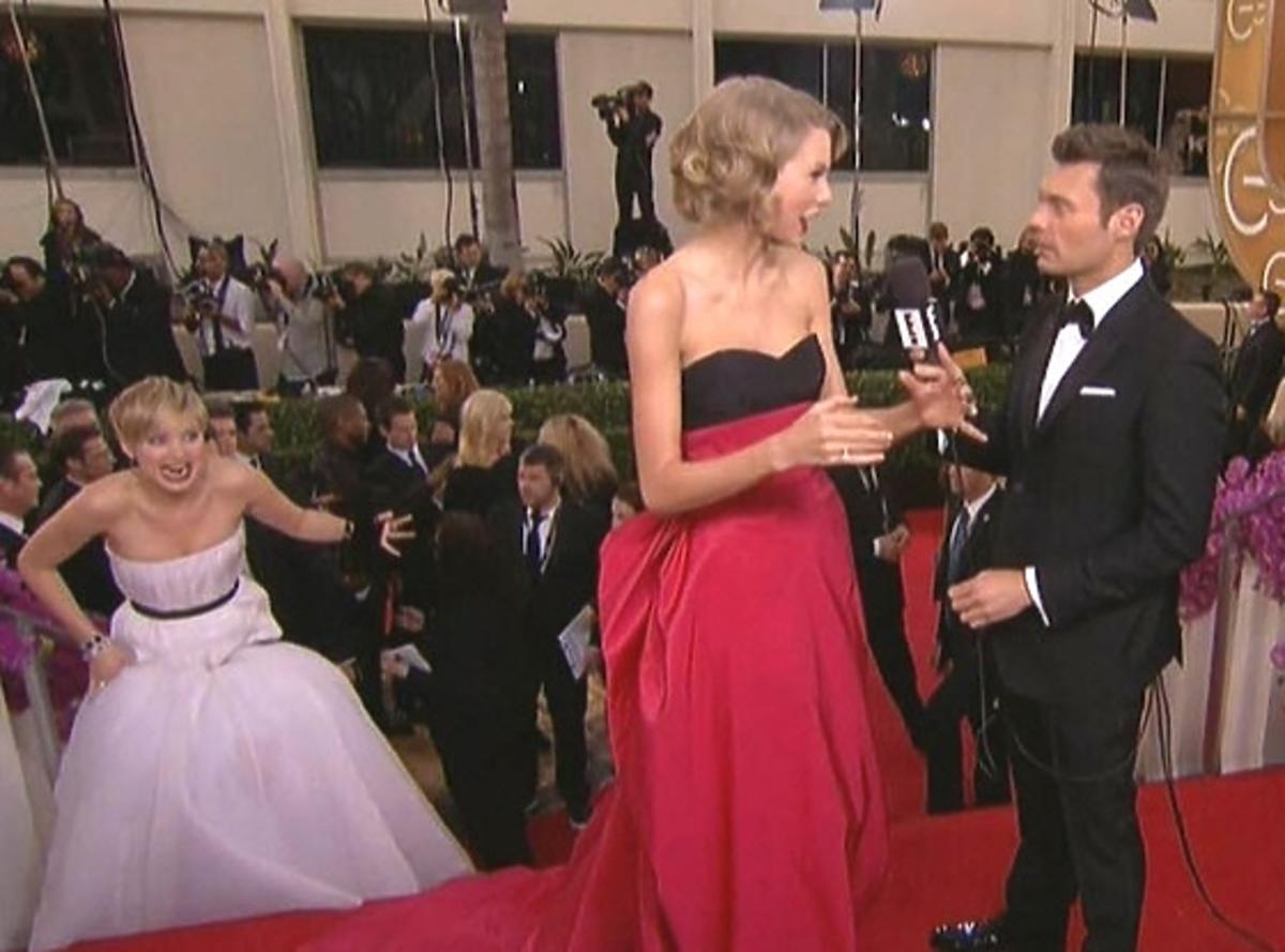 Jennifer Lawrence i Taylor Swif Złote Globy 2014