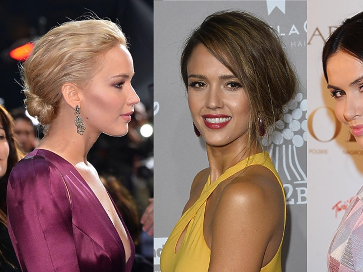 Jennifer Lawrence, Jessica Alba, Marta Żmuda-Trzebiatowska w kokach nad karkiem