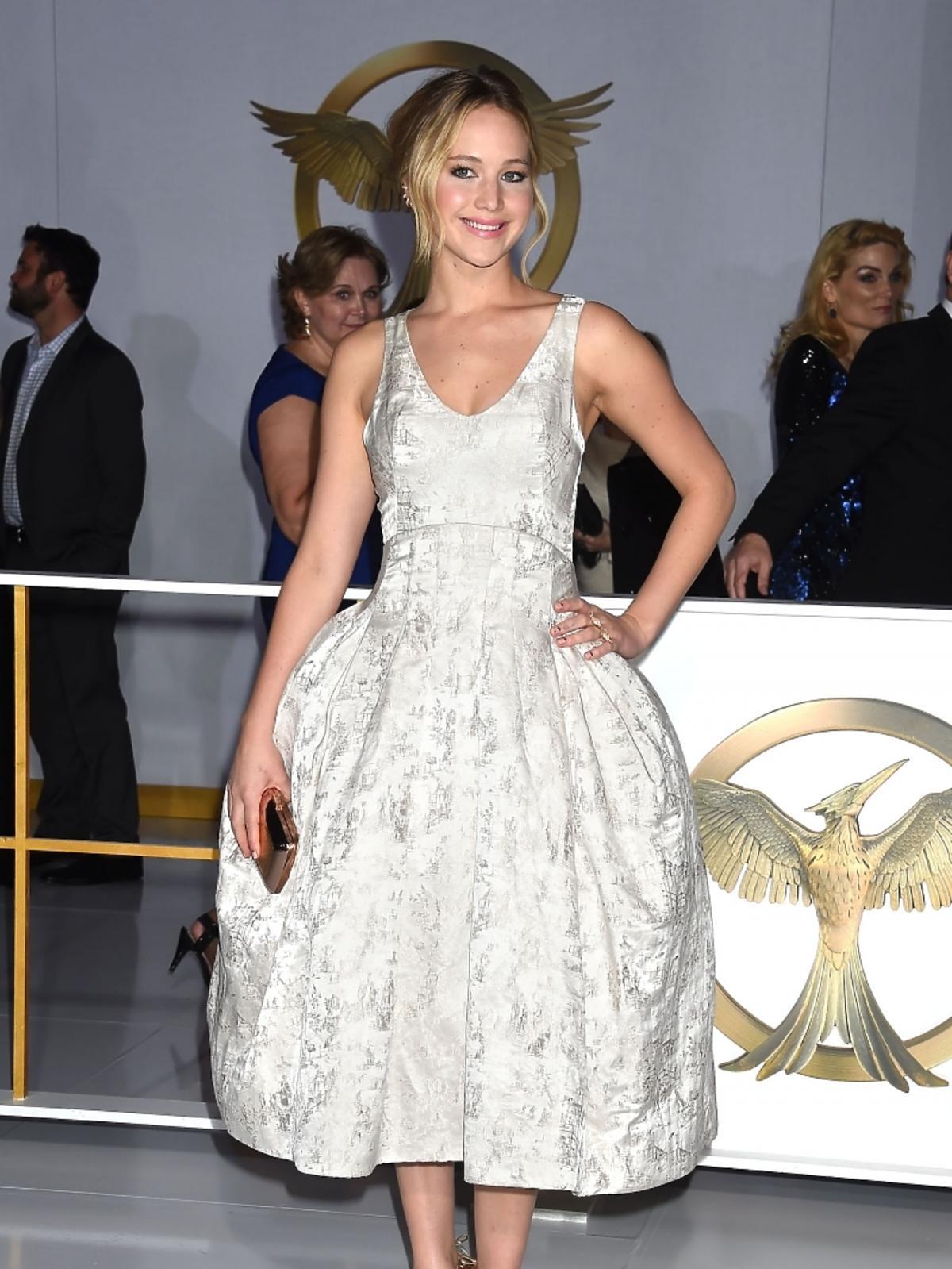 Jennifer Lawrence na premierze filmu Igrzyska Śmierci: Kosogłos. Część 1