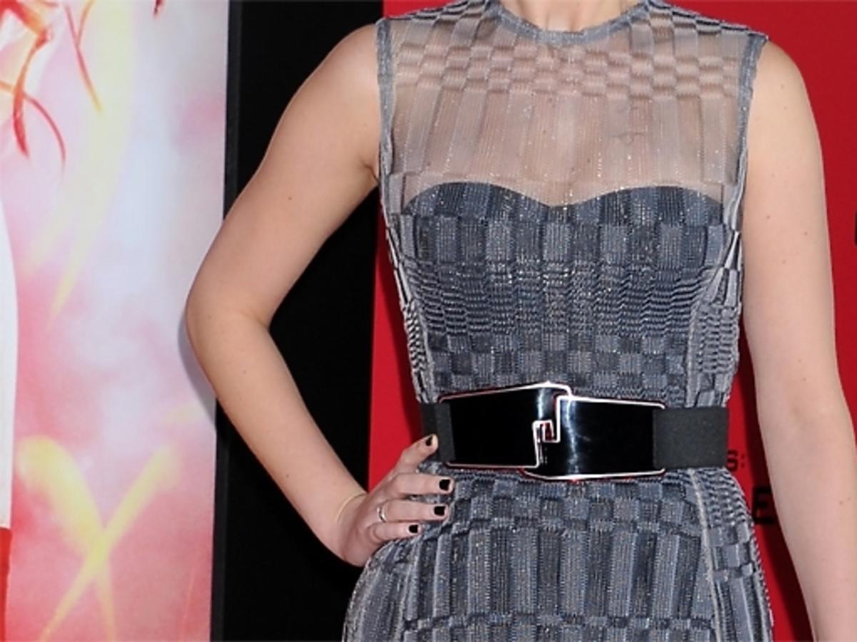 """Jennifer Lawrence na premierze filmu """"Igrzyska Śmierci: W pierścieniu ognia"""" w Los Angeles"""