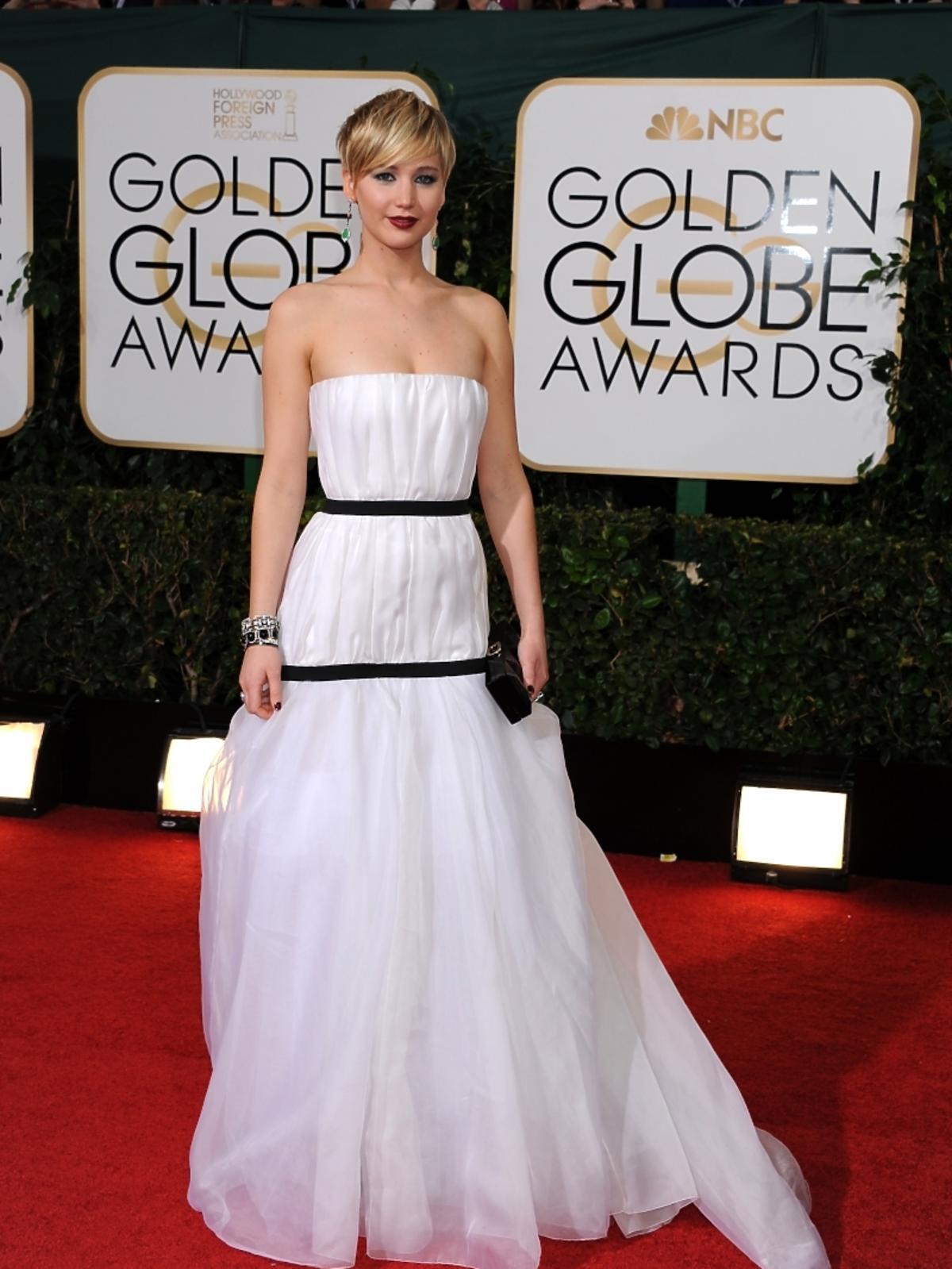 Jennifer Lawrence na rozdaniu Złotych Globów 2014