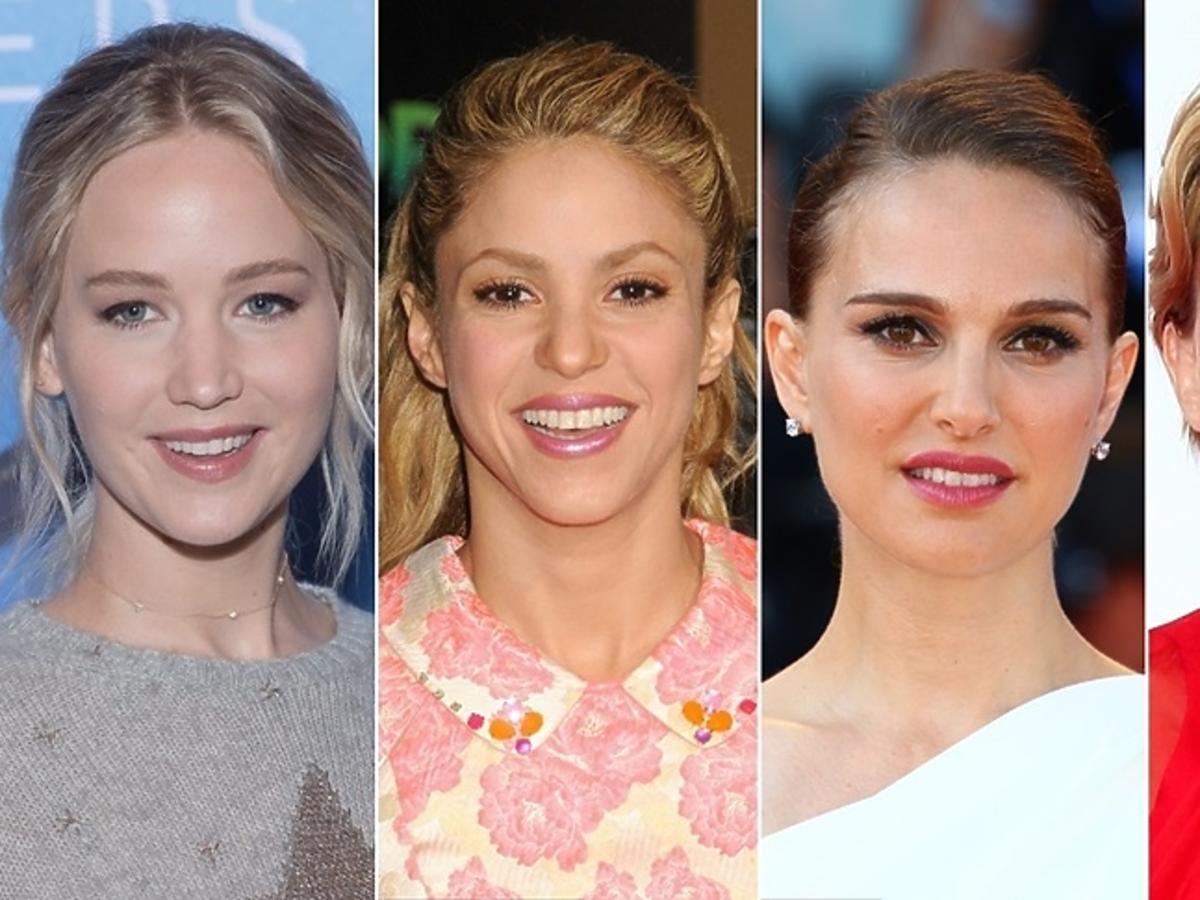 Jennifer Lawrence, Shakira, Natalie Portman, Scarlett Johansson