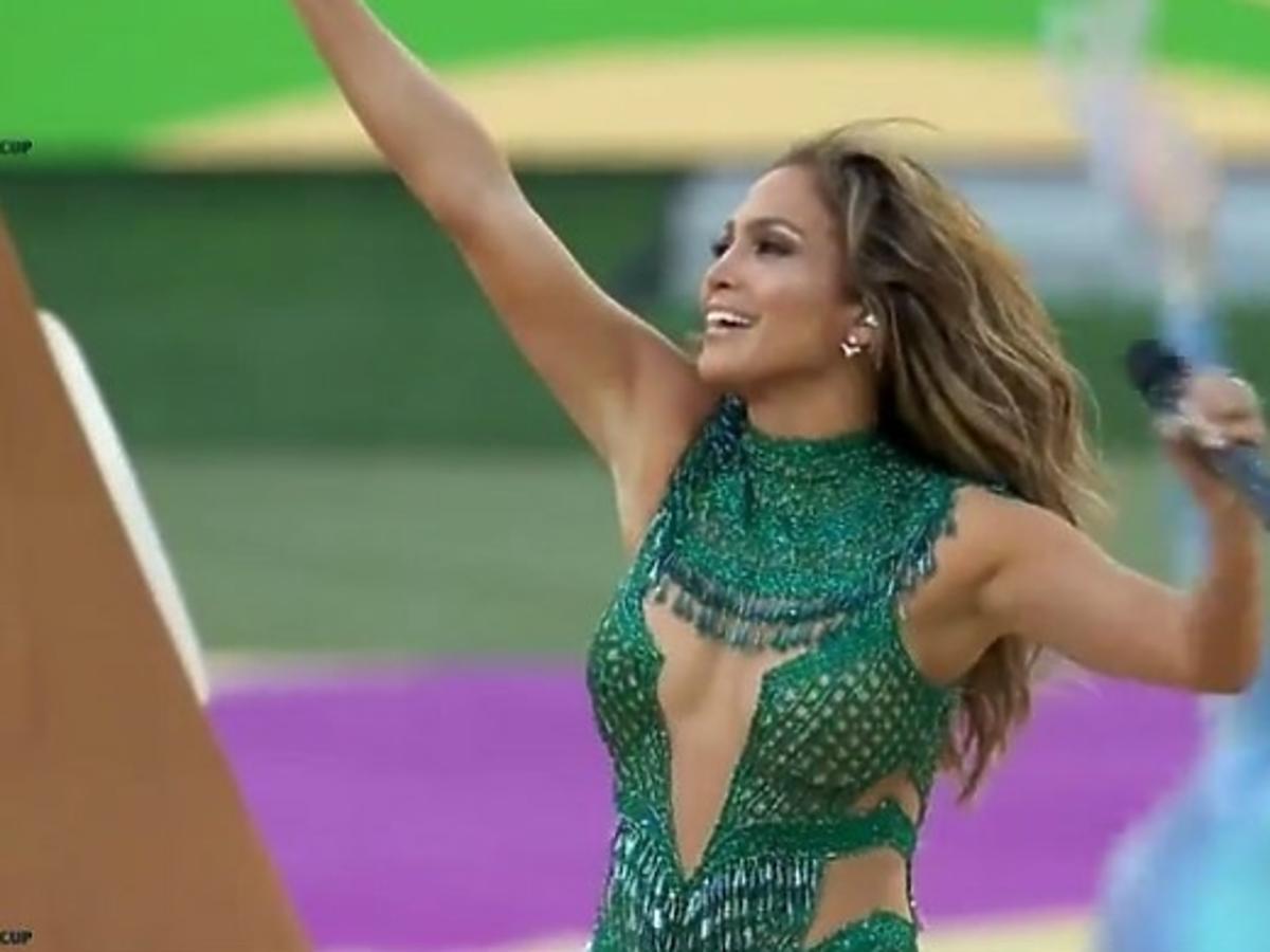 Jennifer Lopez na otwarciu Mundialu