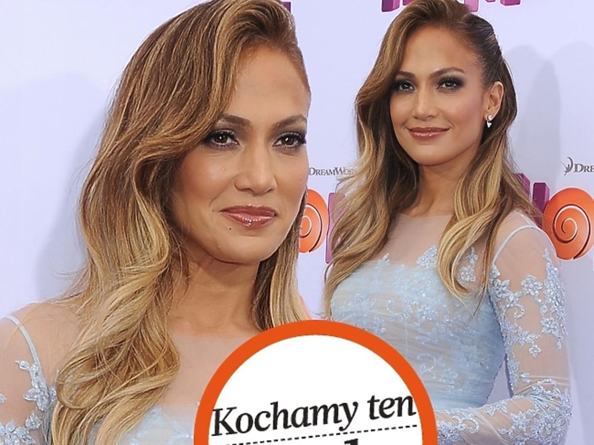Jennifer Lopez w koronkowej sukience