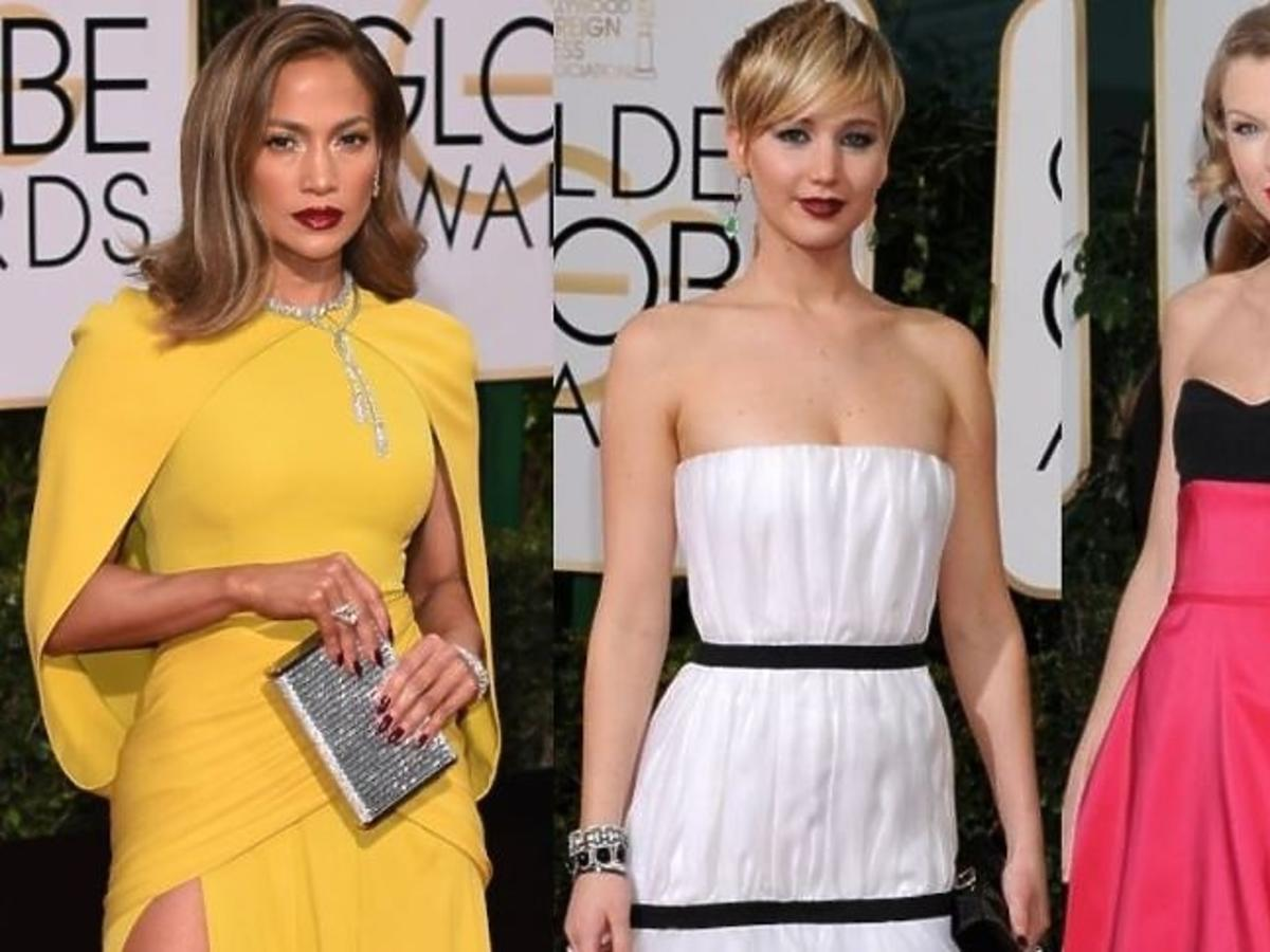 Jennifer Lopez w żółtej sukni