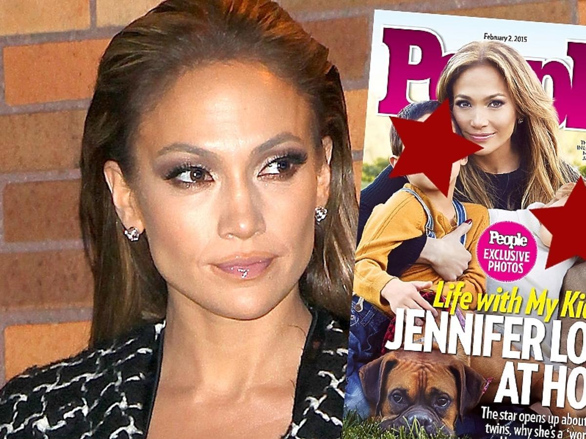 Jennifer Lopez z dziećmi w People