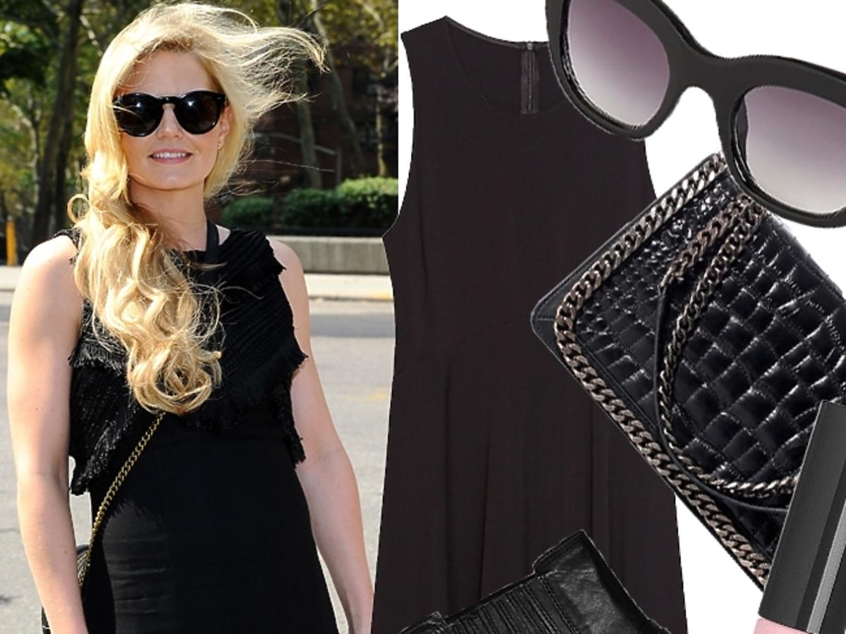 Jennifer Morrison w czarnej sukience