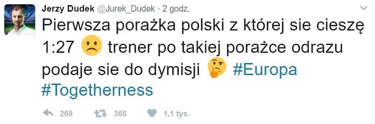 Jerzy Dudek komentuje wygraną Donalda Tuska
