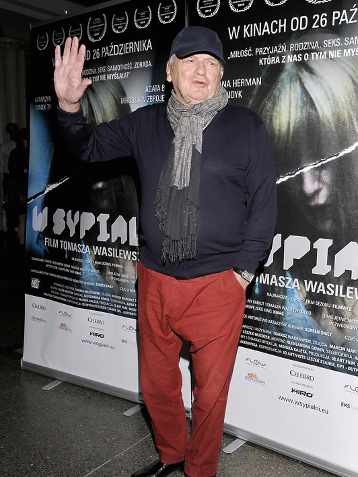 Jerzy Gruza na premierze filmu